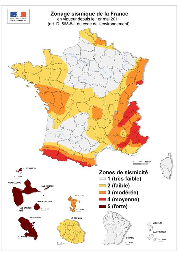 Zonage sismique national