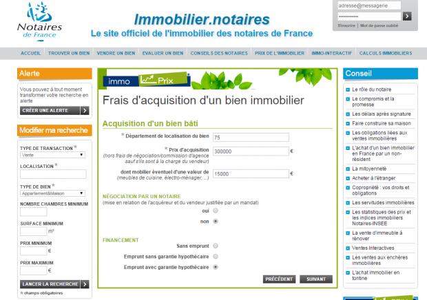 Frais De Notaire Calcul Tout Savoir Sur Les Frais D Acquisition