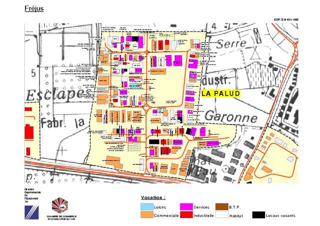 Plan de la Zone d'Activité de la Palud