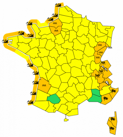 Carte de vigilance météorologique